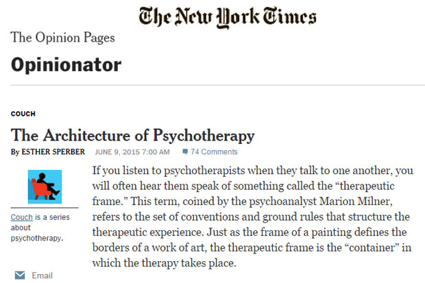 The Architecture of Psychotherapy