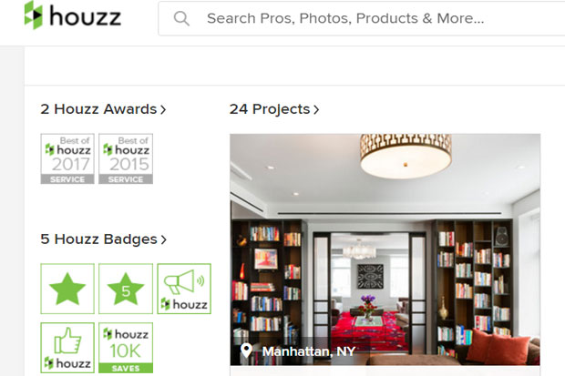 houzz award best 2017
