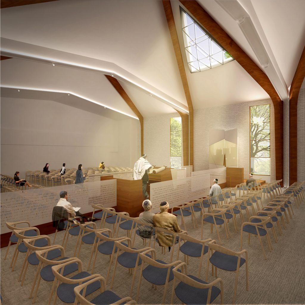 Synagogue Sanctuary, Mechitza Chazan
